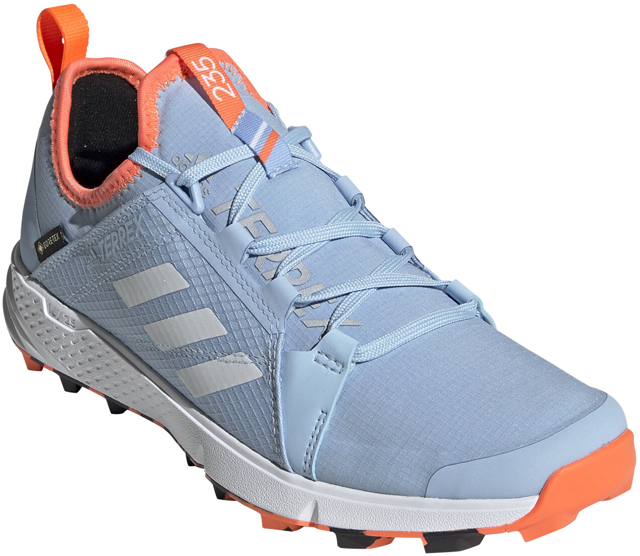 adidas TERREX Agravic Speed GTX Sko Damer, glossy bluefootwear whitehi res coral